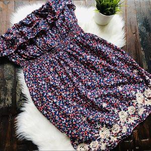 TORRID Strapless Strawberry Embroidered Dress 3 3X